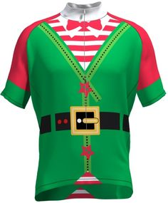 Elf Cycling Jersey - Even more Christmas Cycling Ideas at cyclegarb.com