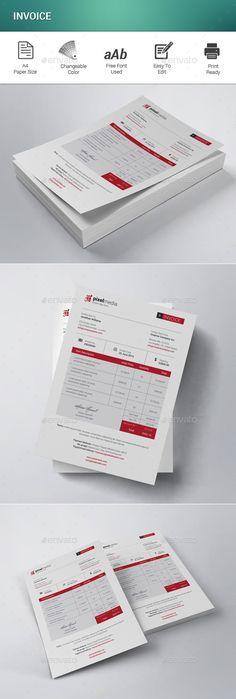 Invoice Template #design #print Download: http://graphicriver.net/item/invoice/11980116?ref=ksioks