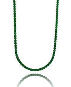 colar riviera esmeralda com banho de rodio negro semi joias de luxo