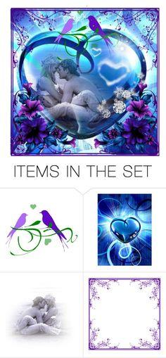 """Blue Valentine"" by jojona-1 ❤ liked on Polyvore featuring art"
