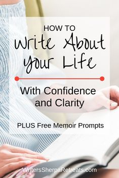 How to Write About Your Life with Confidence and Clarity How to Write About Your Life -- Writing a memoir? Here's how to turn your experiences into a story. Writing tips, writing inspiration, memoir writing, write about your life, creative nonfiction Memoir Writing, Journal Writing Prompts, Book Writing Tips, Writing Classes, Fiction Writing, Writing Quotes, Writing Help, Writing Skills, Writing Rubrics