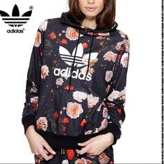 Details about Adidas Originals Womens Trefoil Pastel Camo Floral Windbreaker Jacket Medium