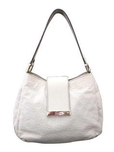 649c72f2a12d Gucci 211934 Off-White Guccissima Small Hobo - Keeks Buy + Sell Designer  Handbags