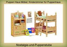 Puppen Haus Kinder Zimmer Möbel, Puppenhaus Möbel, Sylvanian Families - Bild vergrößern