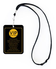 Chic VIP Pass - Corporate Invitations by Invitation Consultants. (Item # IC-RLP-RD-29 )