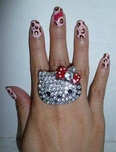 Hello Kitty red bow ring