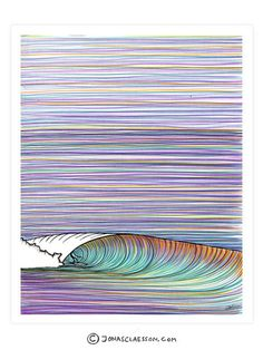 "Groundswell Art Print. Gallery quality Giclee print on natural white, matte, ultra smooth, 100% cotton rag, acid and lignin free archival paper using Epson K3 archival inks. Custom trimmed with 1"" bor"