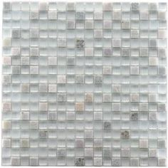 Merola Tile Tessera Mini Ming 11 3/4 in. x 11 3/4 in. Glass and Natural Stone Mosaic Tile