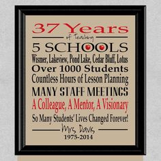 Teacher Retirement Gift, Retired Teacher Gift, Teacher Appreciation Gift, Teacher Gift, Retirement G Retirement Speech, Teacher Retirement Parties, Retirement Party Decorations, Retirement Cards, Early Retirement, Retirement Invitations, Retirement Ideas, Teacher Appreciation Week, Teacher Gifts