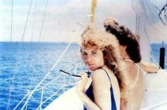 On Joe Walsh's boat, when she was dating Don Henley.