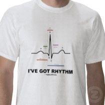 I've Got Rhythm (Electrocardiogram Heartbeat) T Shirts by wordsunwords. I wonder if i could wear this during a test? Housekeeping Uniform, Medical Jokes, Nurse Mugs, Nursing Clothes, Nursing Shirt, Science Jokes, Teacher Outfits, Nurse Life, Work Shirts