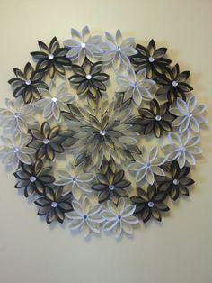 Black & white wreath