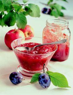 Švestkovo-jablečný džem s koriandrem a mátou