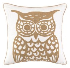Owl Embroidered Pillow And Polyester Filling 18X18 Size: 18 x 18 Inches Contents: 100% COTTON A versitile decorative pillow that offers an easy way to accent any furniture and brighten and living space. This pillow is proudly made in the USA and is machine washable. Share this Product