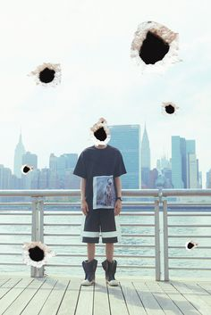 CYBERGREEN 2014 夏季 headshots indian 丝绸拼接oversizedT桖-淘宝网