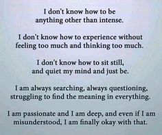 INFJ I'm cool with being misunderstood as long as I'm not having to eat misspoken words Mbti, Mantra, Quotes To Live By, Me Quotes, Infp Quotes, Intj And Infj, Enfp, Infj Traits, Encouragement