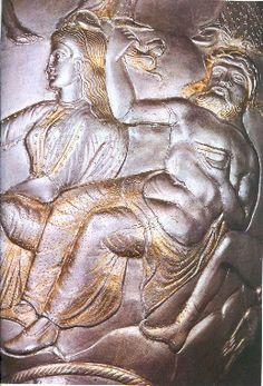Borovo vase or amphora, silver, Odryssian kingdom of King Seuthes, 4thc BC