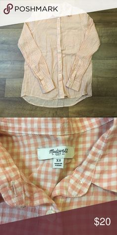 Madewell Gingham Print Button Down Madewell Gingham Print Button Down Madewell Tops Button Down Shirts