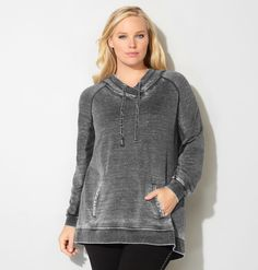 Get a unique garment washed hoodie like our new plus size Contrast Trim French Terry Active Hoodie available in sizes 14-32 online at avenue.com. Avenue Store