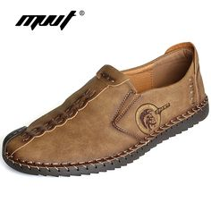 2017 New Comfortable Casual Shoes Loafers Men Shoes Quality Split Leather  Shoes Men Flats Hot Sale Moccasins Shoes c841cf434e79