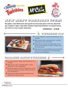 Delicious Menu Ideas with Deep Fried Twinkies, the newest Menu-Trending Item!