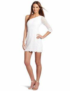 Lilly Pulitzer Women's Whitaker Dress, Resort White Mini Daisy Truly Lace, 6