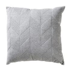Quilted Geo Cushion - Grey