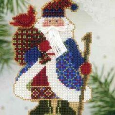 Cardinal Santa Beaded Ornament Kit Mill Hill - $4.99