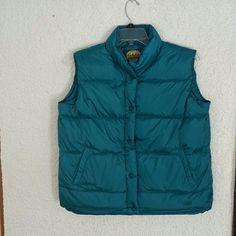 Cabelas women's vest Women's size L premier northern goosedown vest,  snap front, no tags, but has never been worn. Color is like a teal blue Cabela's Jackets & Coats Vests