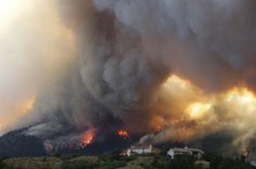 The Waldo Canyon wildfire. Stay strong, Colorado. My Love & Respect to all the firefighters out there risking their lives and struggling in this scorching heat to try to make a difference in our lives!