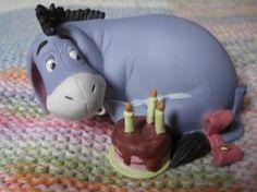 Statuette bourriquet et son gâteau