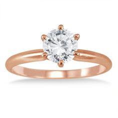 Diamantring Solitär 0.50 Karat aus 585er Rosegold ab 1299.00 Euro bei www.diamantring.be bestellen.