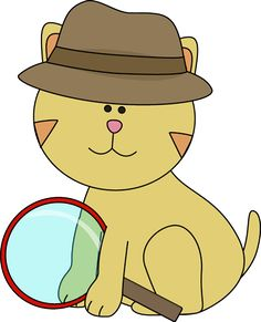 Detective Cat Clip Art - Detective Cat Image Sunday School Themes, Detective Theme, Clipart, Art Images, Schools, Iphone Wallpaper, Crime, Mystery, Doodles