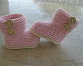 Knitting Pattern Baby Girl Booties/Boots - Quick Easy - Makes Three Sizes of Booties