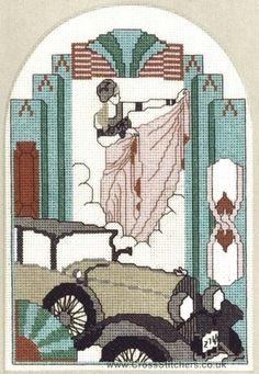 The Dancer Art Deco Cross Stitch Kit by Barbara Thompson