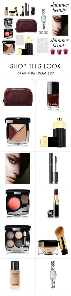 """""""Enter contest Save Draft Open New       WomenMenHomeMy ItemsCollectionsContestChanel×Magazine Ar...×Chanel×ios× × Shine On: Shimmer Beauty"""" by admira-ismail ❤ liked on Polyvore featuring beauty, Chanel, Oris and shimmerbeauty"""