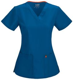 5bb8b285075 Code Happy Antimicrobial Fluid-resistant V-Neck Top from Cherokee Scrubs at  Cherokee 4