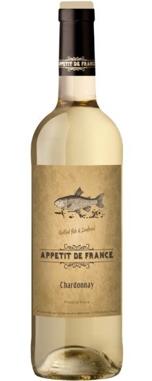 The colourful Appétit de France range labels each depict an animal that makes a gorge food match for the wine in question - salmon for the Chardonnay here. Salmon Cakes, France, Wines, This Or That Questions, Animal, Bottle, How To Make, Food, Flask