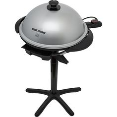 Shoptime Grill e Churrasqueira George Foreman GGR200 Indoor/Outdoor Prata - R$228