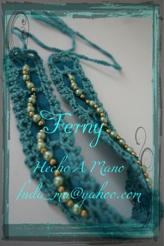 126 Diadema / Headband Retro  Crochet y Perlitas / Crochet and Pearls beads