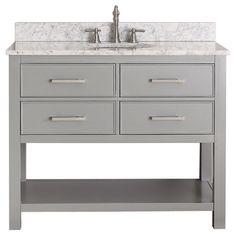 Avanity Brooks Chilled Grey 42-inch Vanity Combo   Overstock™ Shopping - Great Deals on Bathroom Vanities
