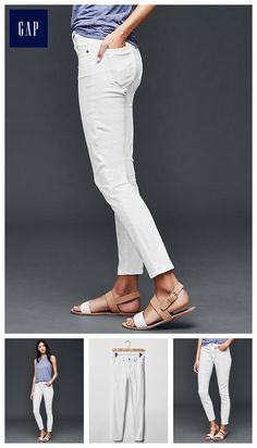 Sewing on Trend: The White jeans: GAP STRETCH 1969 true skinny ankle jeans - Our slimmest cut. Made to flatter.