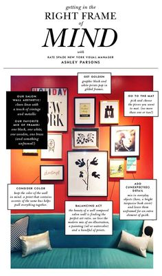Getting into the right #Frame of Mind with Kate Spade #katespadegallerywall, #walldecor