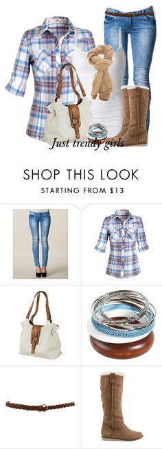 plaid shirt by justtrendygirls on Polyvore featuring Sisters Point and Reef