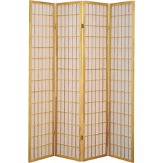 Q-Max Brown Four-panel Japanese Oriental-style Room Screen Divider (4 Panels Brown)