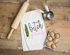 Excited to share this item from my shop: Bitch peas kitchen towel - dish towel - tea towel - funny kitchen decor - inappropriate kitchen towels Dish Towels, Tea Towels, Kitchen Humor, Funny Kitchen, Kitchen Maid, American Kitchen Design, Glitter Mason Jars, Remembrance Gifts, Custom Wooden Signs