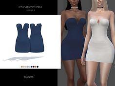 Bill Sims' Strapless Mini Dress