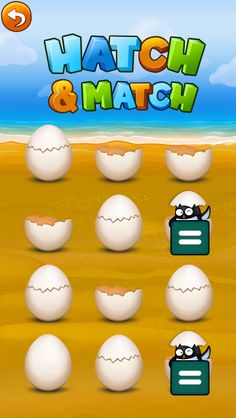 "Penguin egg memory/matching game in all Mrs. Judd's Games iPad Penguin apps EX: ""Penguin K""  https://itunes.apple.com/us/app/penguin-k-kindergarten-math/id656497097?mt=8 to match math, lang arts, symbols, & MORE!"
