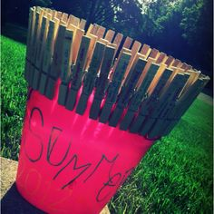Summer. Bucket. List. write each thing on a clothes pin and when you do it drop the pin in the bucket! :D