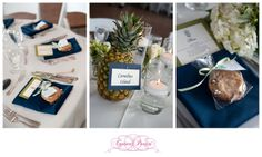 Pineapple decor at Newport Yachting Center Wedding by Couture Parties